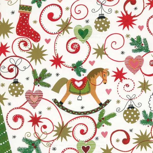 A Christmas wrapping paper roll 50cm 50 meters Rapperswil.