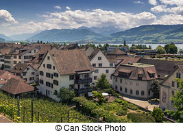 Stock Photography of Rapperswil castle (Lake Zrurich, Switzerland.