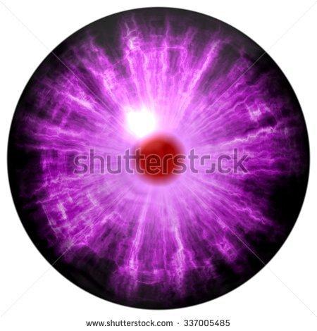 Purple Eye Bloody Red Retina Raptor Stock Illustration 337005485.