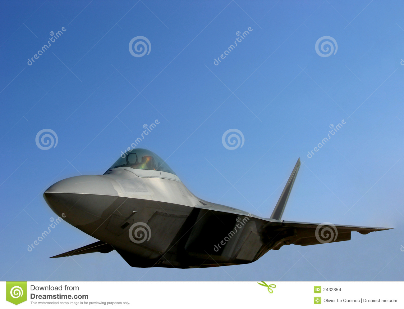 F22 Raptor US Air Force Fighter Plane Flying Stock Images.