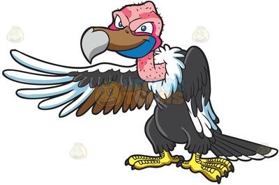 raptorial bird Cartoon Clipart.