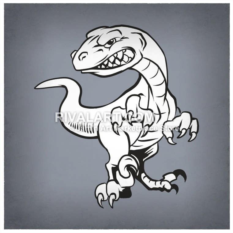 Raptors Dinosaur Graphic.