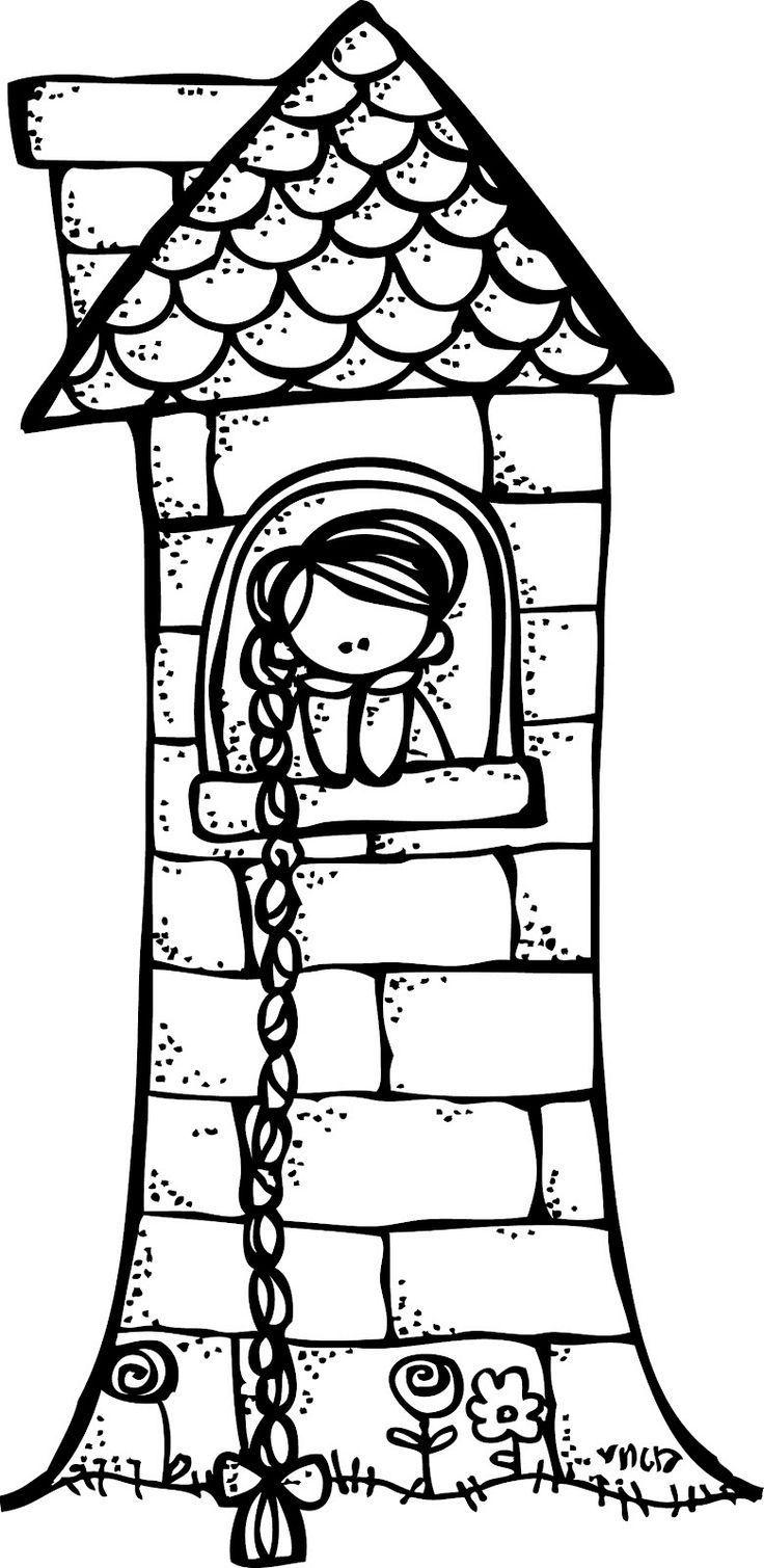 Rapunzel clipart black and white 5 » Clipart Portal.