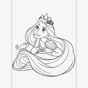 Rapunzel Clipart Black And White.