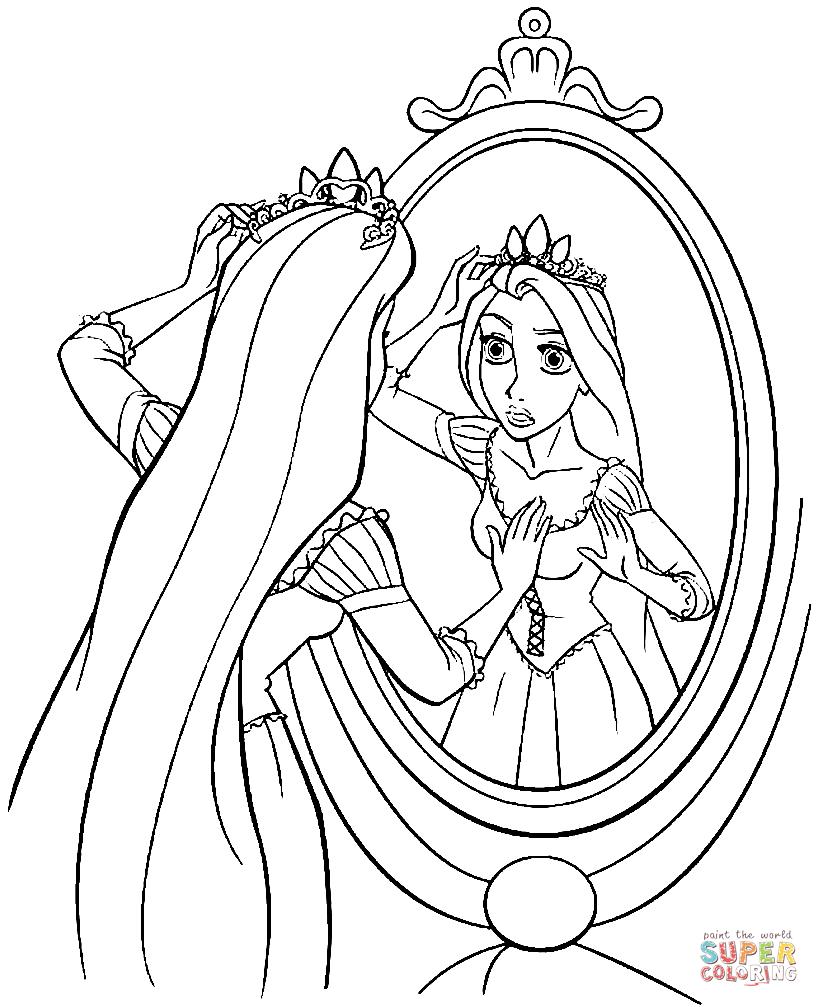 Princess Rapunzel coloring page.