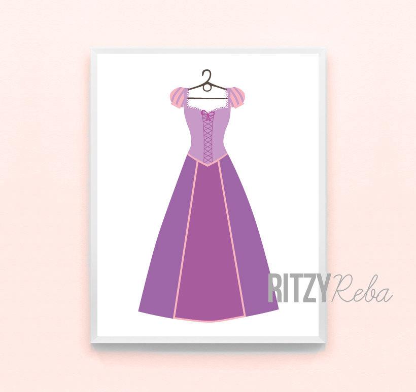 rapunzel dress clipart #2