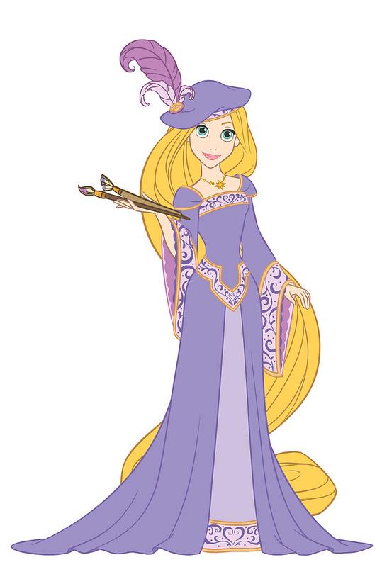 Showing post & media for Rapunzel dress cartoon.
