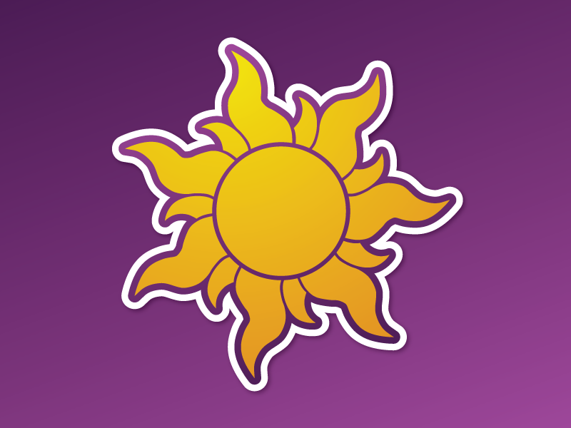 Tangled Sun by Paul Kelley on Dribbble.