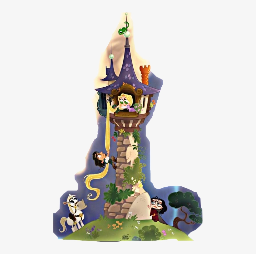 Rapunzel Tower Drawing.
