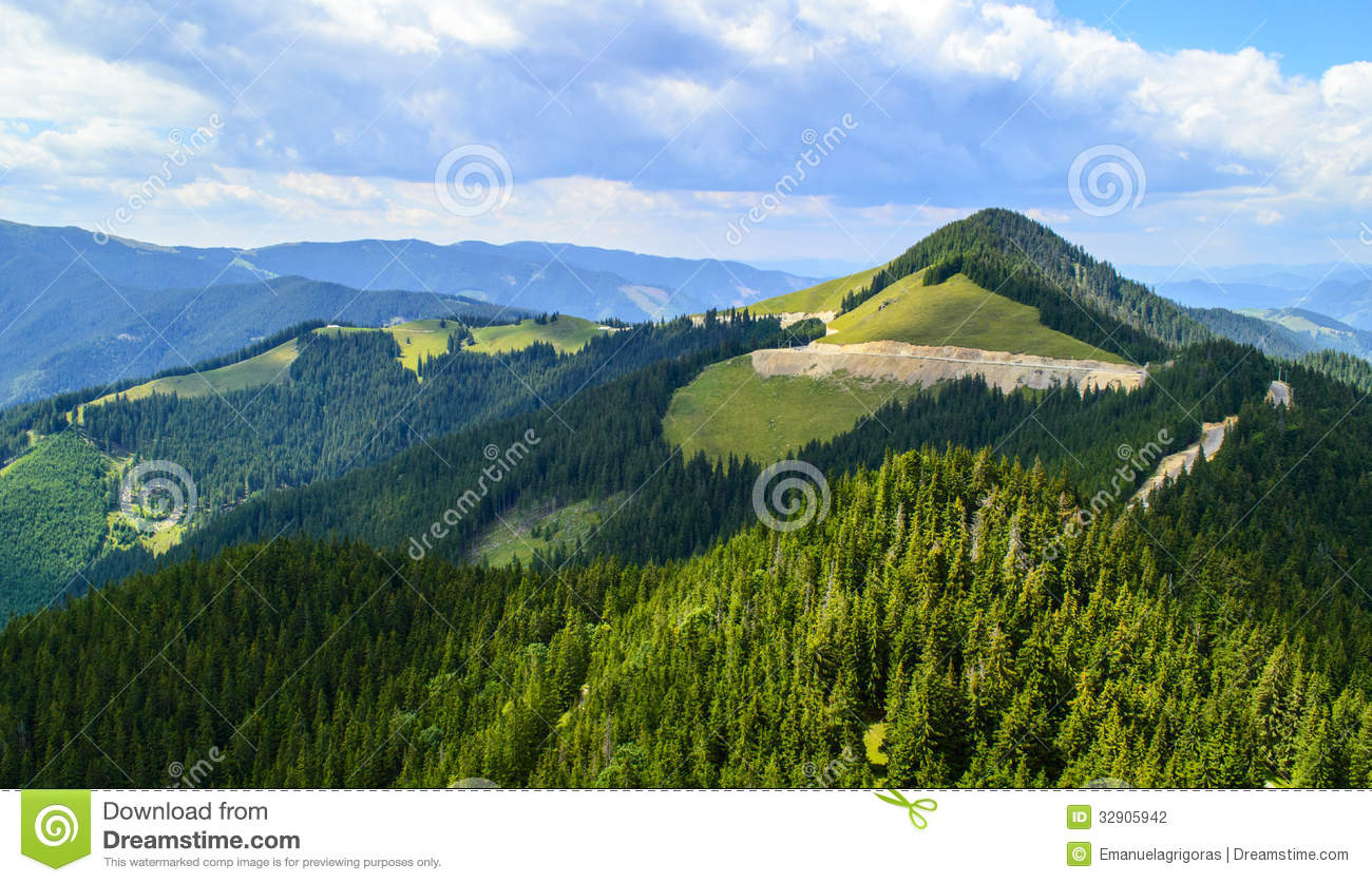 Plateau Of Rarau Mountains Stock Photography.