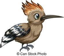 EPS Vectors of Rare bird on orange polka dot background.