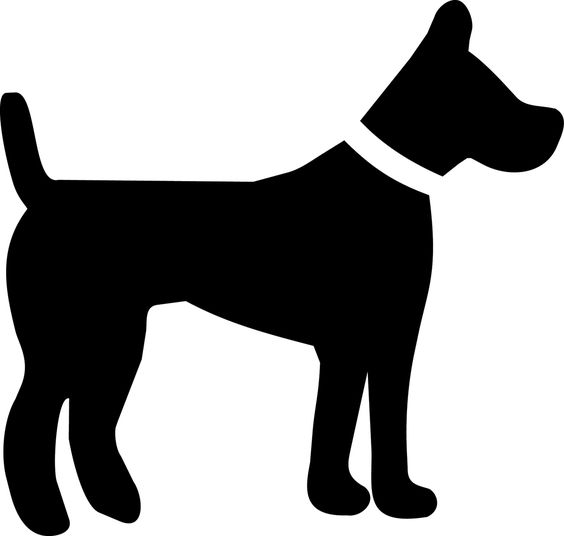 Dog silhouette.
