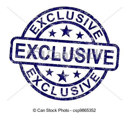 Clip Art of Exclusive Stamp Shows Limited And Rare Product.
