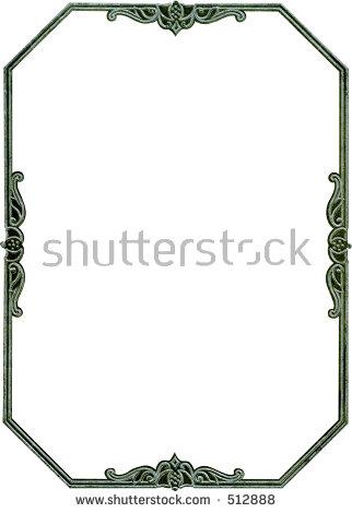 Antique Octagon Frame Border Rare Design Stock Photo 512888.