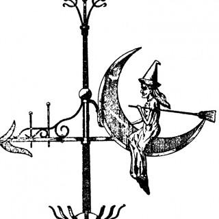 Vintage Witch Weather Vane Image!.