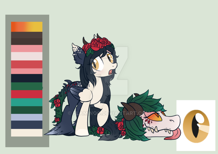 Rare Primal/Cow Plant Pony AUCTION (CLOSED) by Glitterring on.