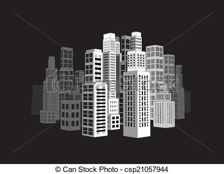 EPS vector de rascacielos, ciudad, edificios.