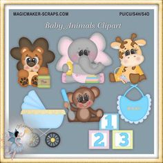 Summer Raccoon Rascals Clipart by MagicmakerScraps on Etsy.