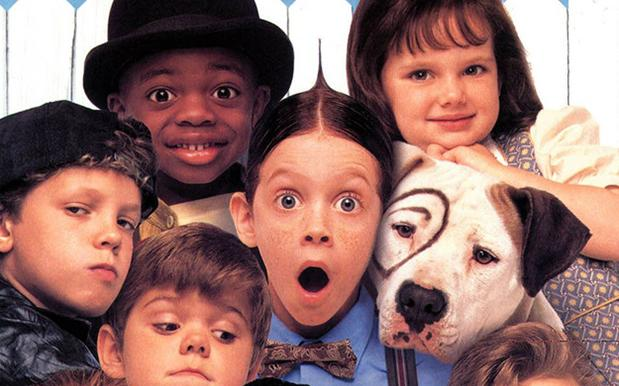 The Little Rascals' cast recreate the poster for the film's 20th.