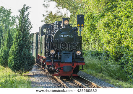 Vintage Steam Engine Train Sunset Lagerfoto 168626852.