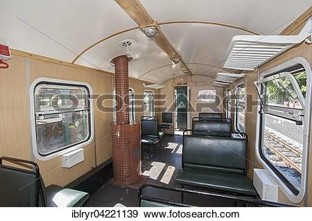 Stock Photograph of Wooden oven in train compartment, Rugensche.