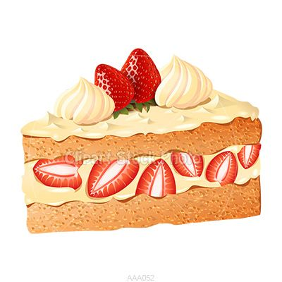 Strawberry Cake Clip Art.