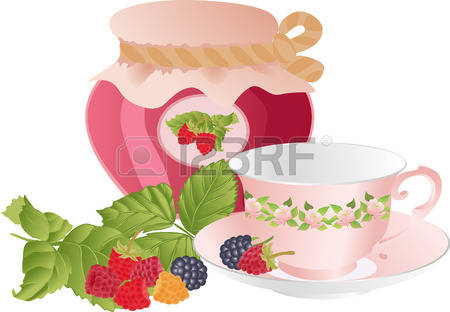 303 Tea With Raspberries Cliparts, Stock Vector And Royalty Free.