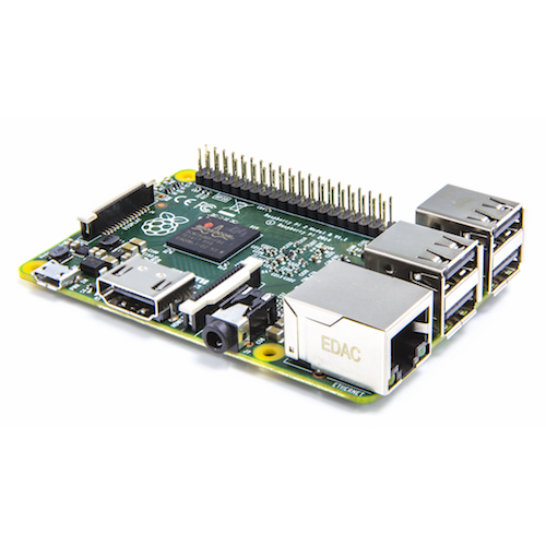 Raspberry Pi 2 Model B, 1GB Ram.