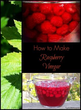Raspberry Vinegar with Honey.