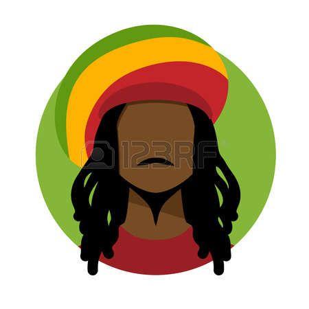rasta: Vector illustration of rastafarian man..