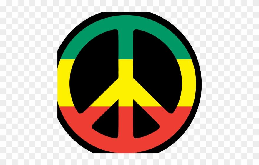 Rasta Clipart Peace Symbol.