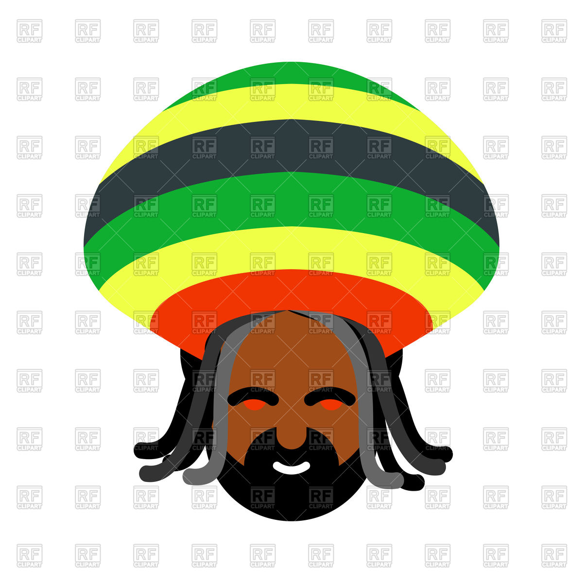 Collection of Rasta clipart.
