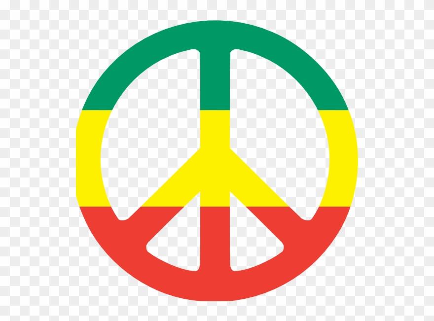 Rastas Clipart Peace Logo.
