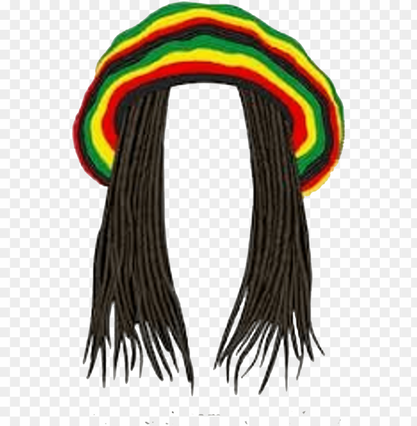 rasta hat with dreads PNG image with transparent background.