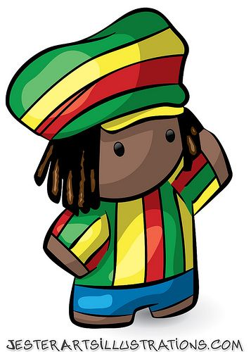 rastafarian cartoon.