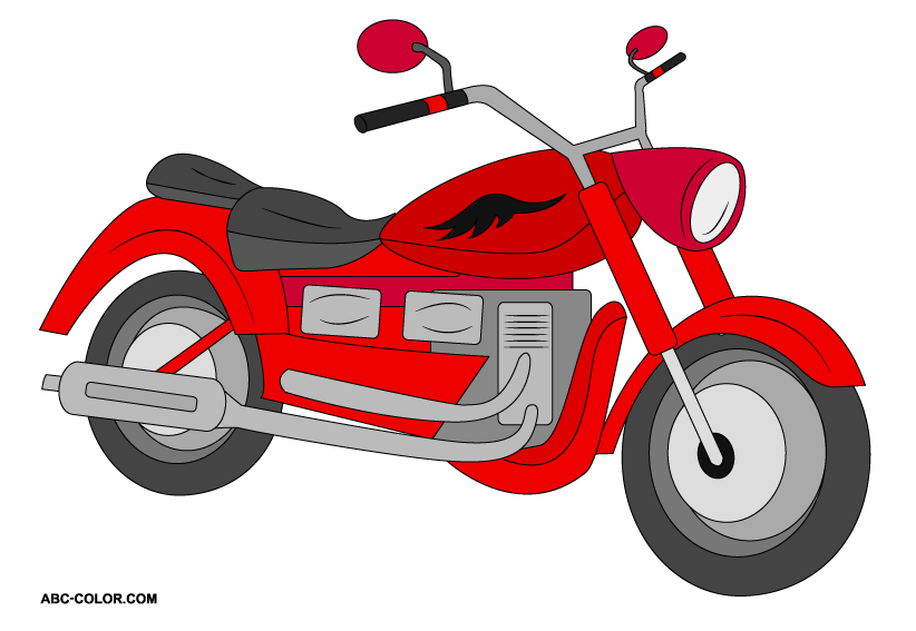 Motorcycle raster clipart free clipart images.