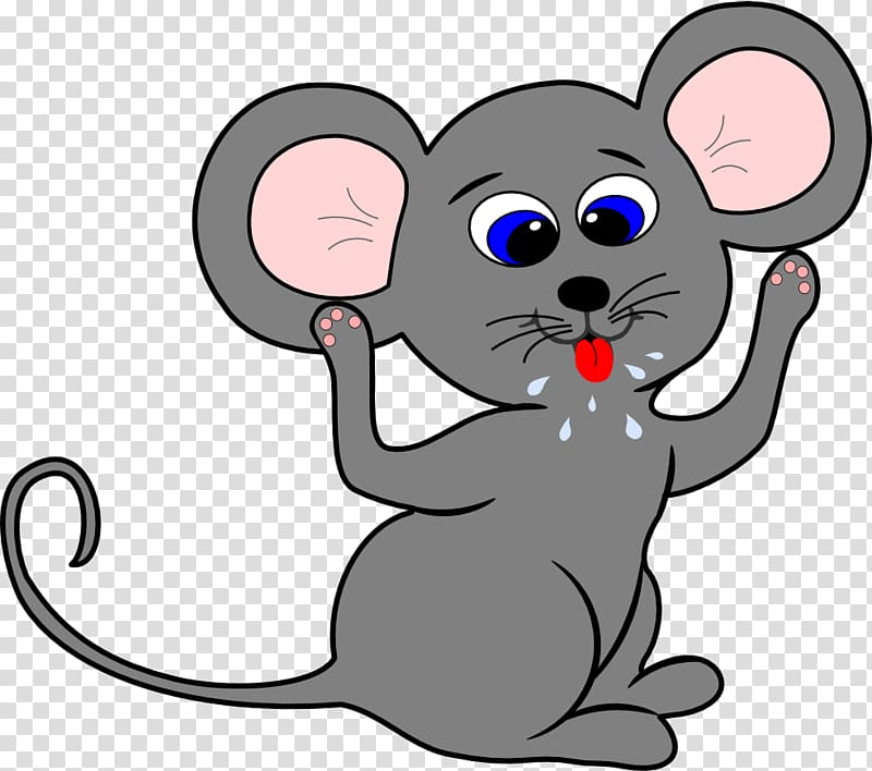 Gray rat , Mouse Cartoon Drawing , Cartoon Mouse transparent.