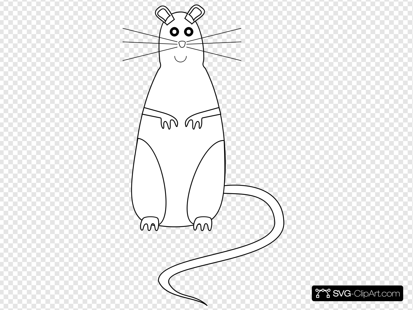 Rat Outline Clip art, Icon and SVG.