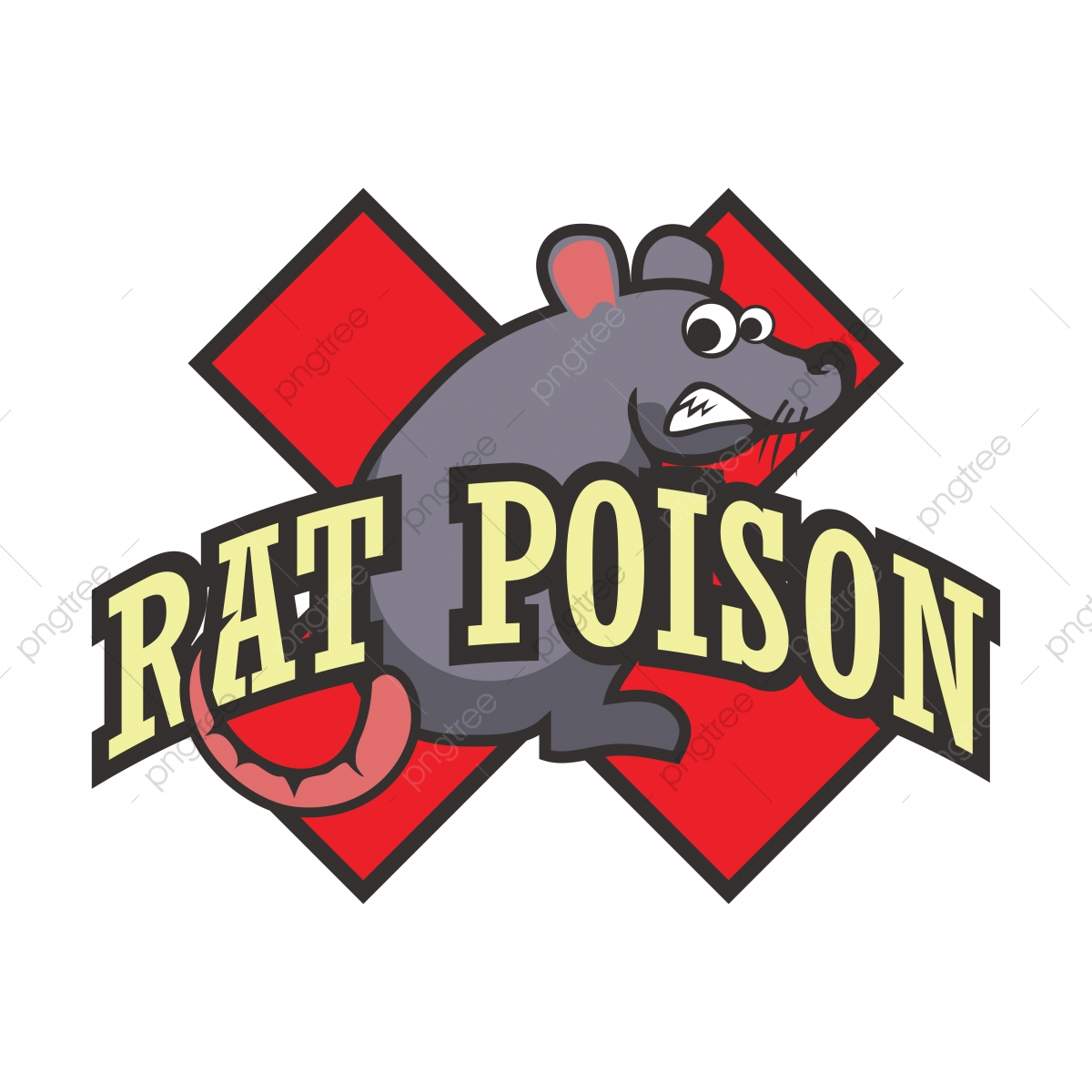 Mouse Poison Abstract Font With Abominable Mouse, Rat, Rat.