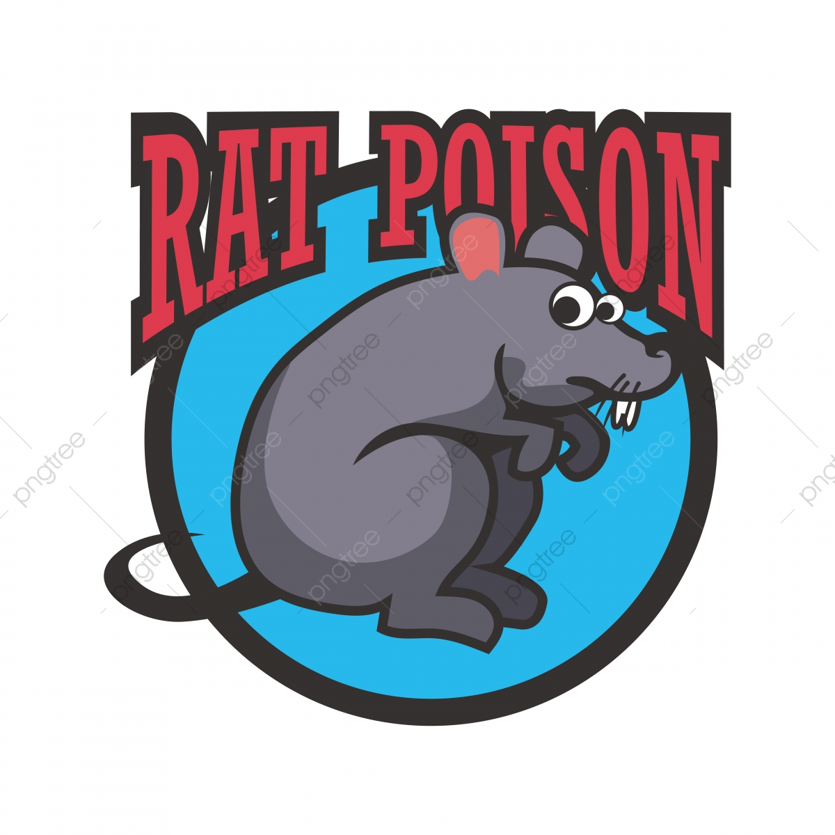 Mouse Poison Abstract Font With A Blue Circle Mouse, Rats.