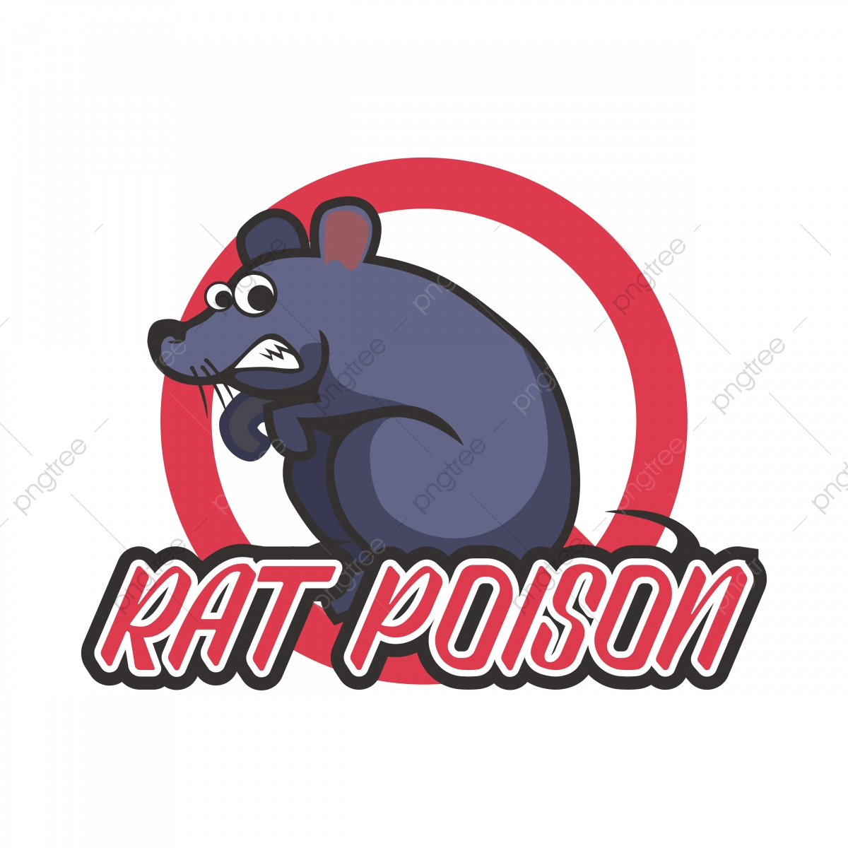 Mouse Poison Abstract Fonts With Red Circles, Rats, Rat.