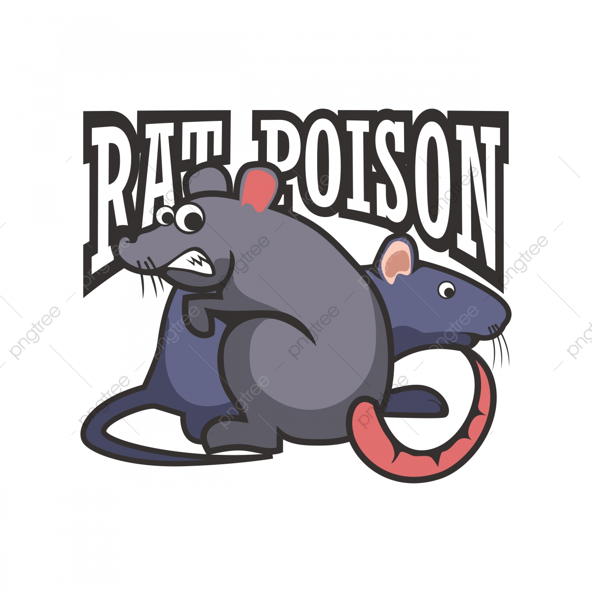 Mouse Poison Abstract Font With Frightening Rats, Rats, Rat.