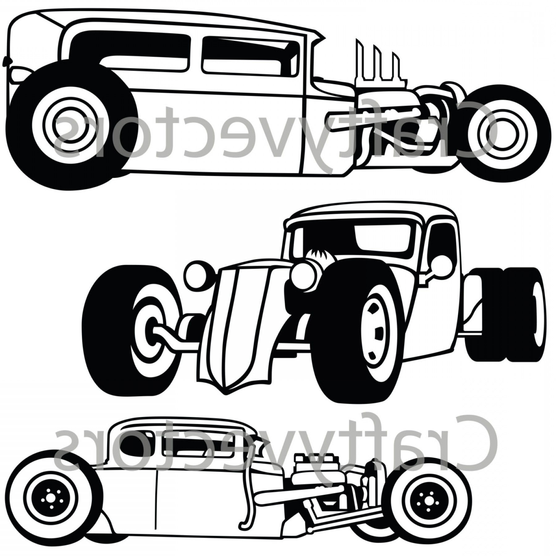 Rat Rod Cars Svg Vector Files.