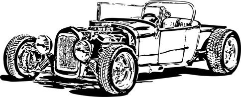 Free Free Model T Hot Rods Clipart and Vector Graphics.