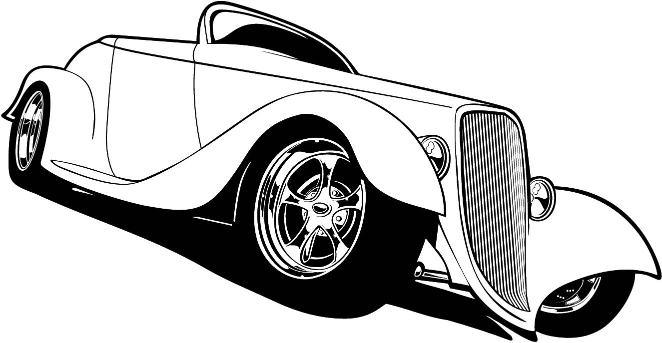 FREE CARTOON HOT ROD CAR CLIPART.