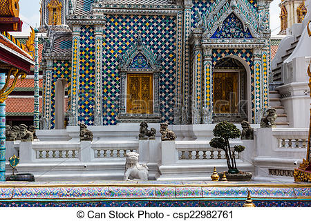 Stock Image of Hor Phra Khanthara Rat at Wat Phra Kaew.