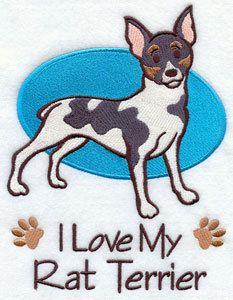 Rat Terrier Pampered Pups Original Art Print.