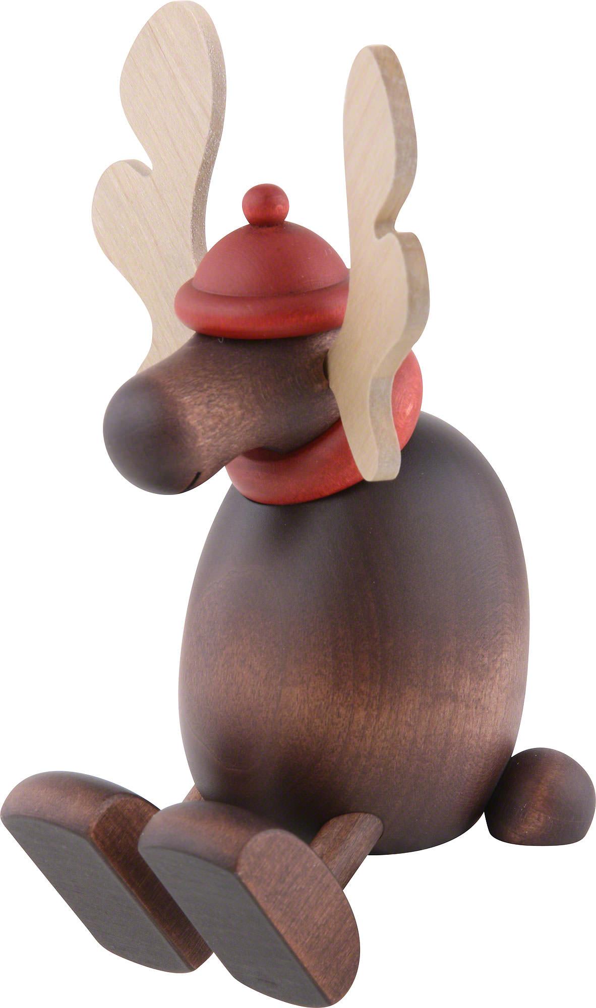 Moose Olaf sitting on a shelf (15cm/5.9in)ch by Björn Köhler.