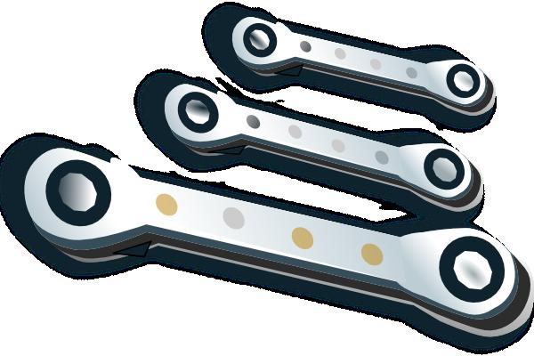 Ratchet Spanner Set Clip Art at Clker.com.