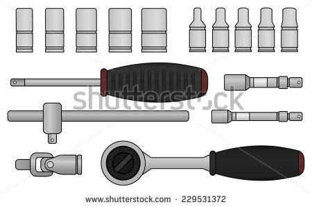 Ratchet Socket Wrench Stock Images, Royalty.